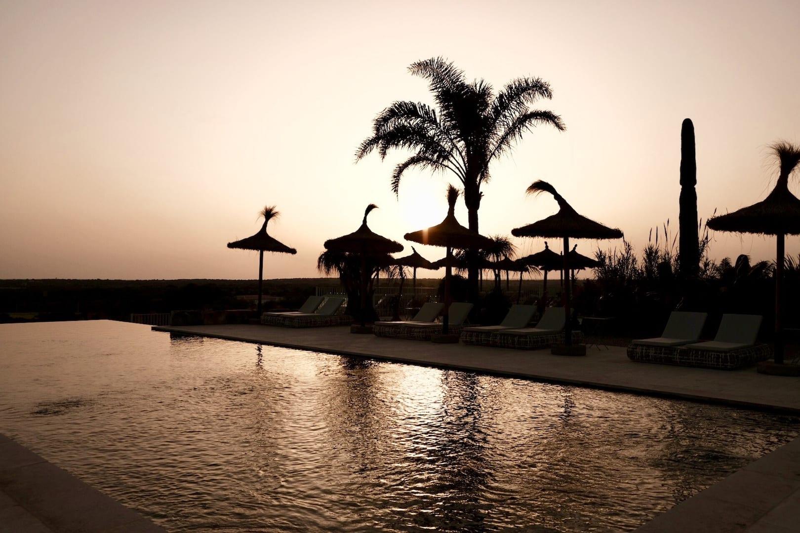 ISLA Hotel Es Turo Ses Salines Sonnenuntergang